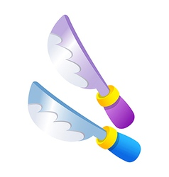 icon knife vector image