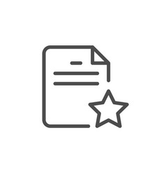 Important affairs line outline icon vector