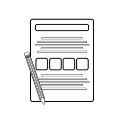 Isolated document paper and pencil design vector