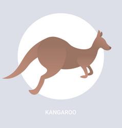 Kangaroo icon cartoon endangered wild australian vector