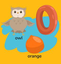 Letter o child s alphabet graphics vector