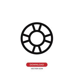 Lifesaver icon vector