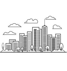 line building landscape design elements set city vector image
