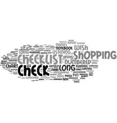 list word cloud concept vector image