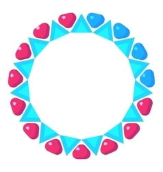 Loading circle with pink and blue hearts icon vector image