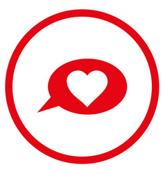 love message balloon rounded icon vector image