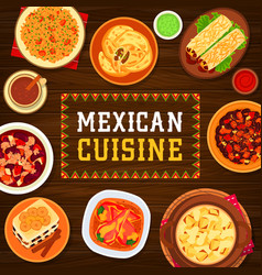 Mexican cuisine meals poster vector