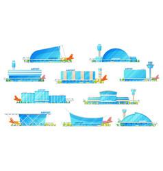 modern airport passenger terminal building vector image