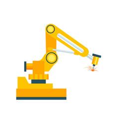 Modern robotic welding machine element vector