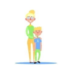 Mother And Teenage Son Blond Couple vector