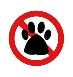 no dogs vector image