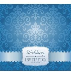 Ornate damask background invitation vector