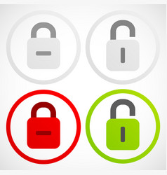 Padlock pictograms vector