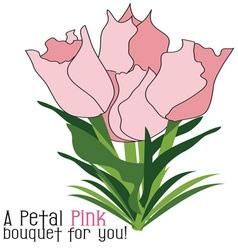 Petal pink bouquet vector