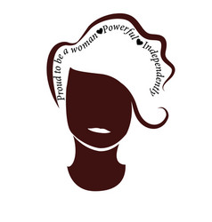 proud to be a woman silhouette of a woman had wit vector image
