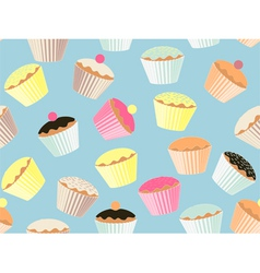 Repeatable cupcake background vector