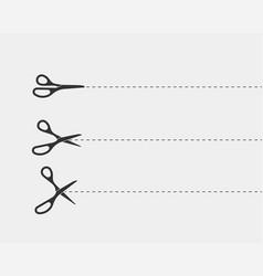 scissor icon scissors cut design element or logo vector image