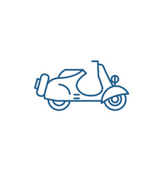 Scooter line icon concept scooter flat vector