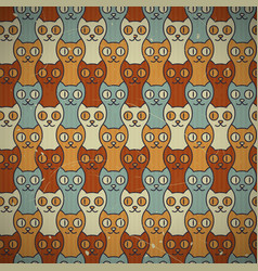 Seamless cats background vector