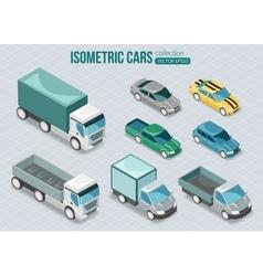 set isometric cars vector image