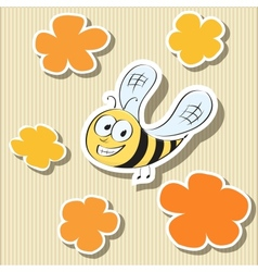 Set of Elements Flower-shaped Paper Tags and vector image