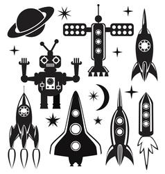 Space symbols vector