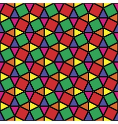 stained glass grid vector image