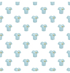 Striped baseball shirt pattern cartoon style vector
