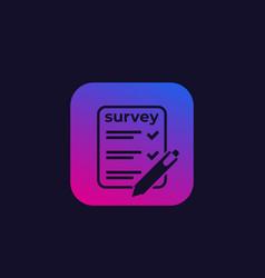 Survey test icon vector