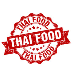 thai food stamp sign seal vector image