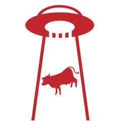 Ufo cow eps vector