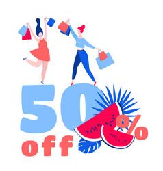 women dancing happy purchase buy paper bags 50 vector image