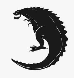 a dinosaur monster vector image