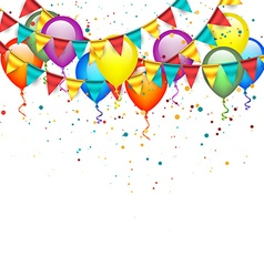 Birthday Garlands and Balloons vector image vector image