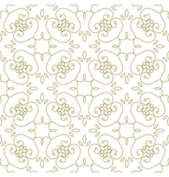 Golden line pattern on white background vector