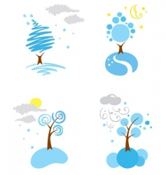 icons winter weather vector image vector image