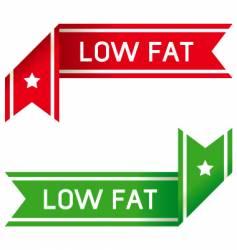 low fat food label vector image