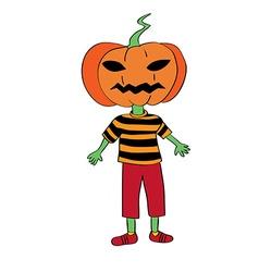 pumpkin mask vector image vector image