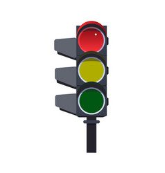 red traffic light vector image vector image