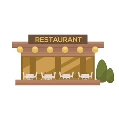 restaurant in flat design vector image