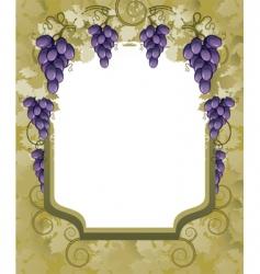 vineyard border vector image vector image