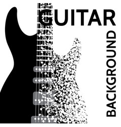 abstract background with electric guitar vector image vector image