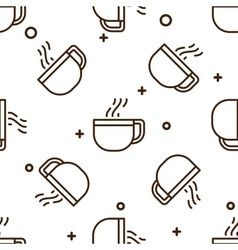 Glass coffee cup pattern vector image