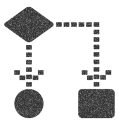 Algorithm Scheme Grainy Texture Icon vector image vector image