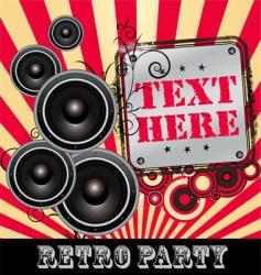 retro Dj party vector image