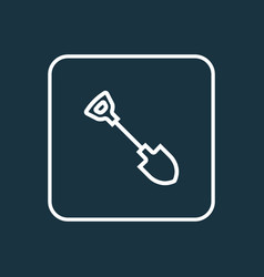 shovel icon line symbol premium quality isolated vector image vector image