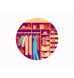 Wardrobe flat design vector image
