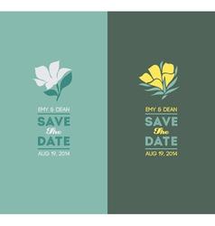 Elegant flowers Wedding graphic set vector image vector image