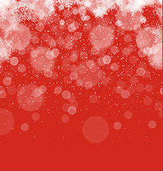 Merry Christmas Abstract Background Snowflakes vector image vector image