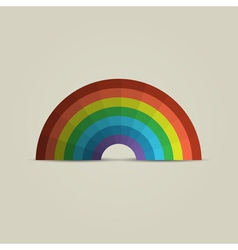 Paper rainbow vector image vector image